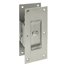 Deltana SDL60-15 Decorative Privacy Pocket Door Lock Satin Nickel Nickel