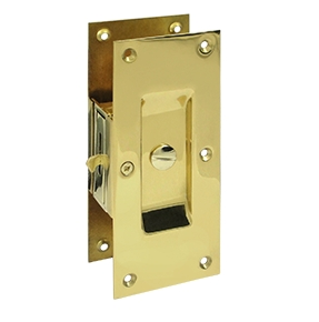 Deltana SDL60-3 Decorative Privacy Pocket Door Lock Polished Brass