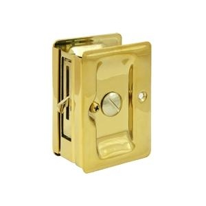 Deltana SDLA325 Heavy Duty Privacy Pocket Door Lock in Lifetime Brass (CR003)