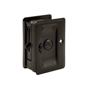Deltana SDLA325 Heavy Duty Privacy Pocket Door Lock in Oil Rubbed Bronze (US10B)
