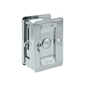 Deltana SDLA325 Heavy Duty Privacy Pocket Door Lock in Polished Chrome (US26)