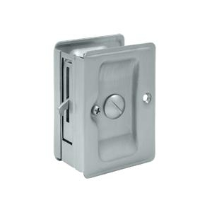 Deltana SDLA325 Heavy Duty Privacy Pocket Door Lock in Satin Chrome (US26D)