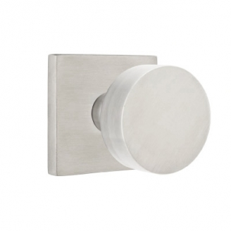 Emtek Stainless Steel Round Door Knob with Square Rose