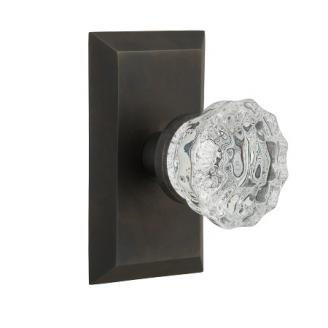 Nostalgic Warehouse Studio Plate with Crystal Knob Oil Rubbed Bronze (