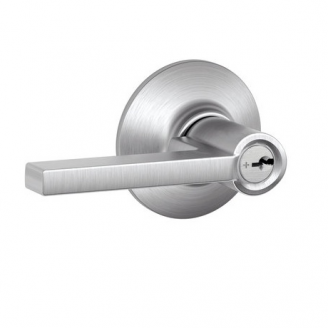 Schlage Latitude F51 Lat Keyed Entry 626 Satin Chrome