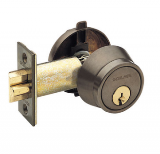 Scinghlage B250PD Sle Cylinder deadlatch shown in oil rubbed bronze (613)