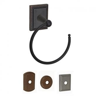 Fusion American Relic Towel Ring with Ahwahnee Rose Dark Relic Bronze