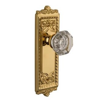 Granduer Windsor Backplate with Chambord Knob Polished Brass