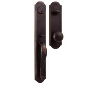 Weslock Wiltshire Handleset with Wexford Knob Oil Rubbed Bronze