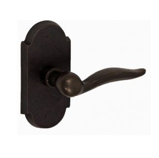 Fusion Hardware Bronze Drop Tail Lever with Large Bronze Scalloped Rose AK