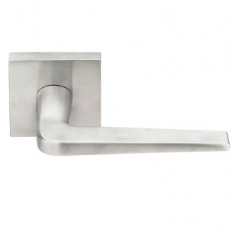Emtek Stainless Steel Athena Door Lever with Square Rosette Stainless Steel (SS)