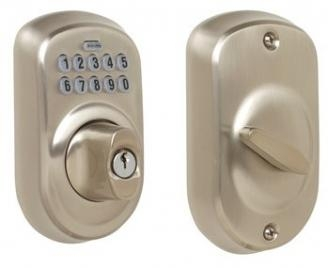 Schlage BE365-PLY Electronic Keypad 619 Satin Nickel