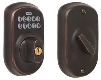 Schlage BE365-PLY Electronic Keypad 716 Aged Bronze