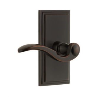 Grandeur Bellagio Lever with Carre Short Plate Timeless Bronze