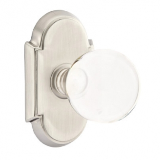 Emtek Bristol Door Knob Set with #8 Rose Satin Nickel (US15)