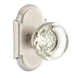 Emtek Georgetown Door Knob with #8 Rose Satin Nickel (US15)