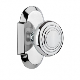 Nostalgic Warehouse Cottage Plate with Deco knob Bright Chrome (BC)