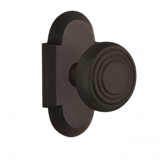 Nostalgic Warehouse Cottage Plate with Deco knob Oil Rubbed Bronze (OB)