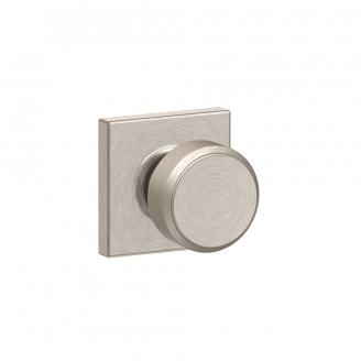 Schlage F10-BWE-COL Bowery Passage Door Knob Set with Collins Rose