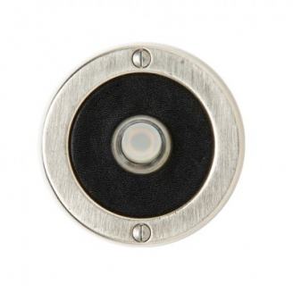 Rocky Mountain Round Designer Leather Door Bell White Bronze Brushed with Black