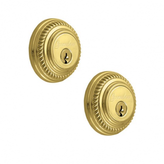 Grandeur Newport Double Cylinder Deadbolt Lifetime Brass (LB)