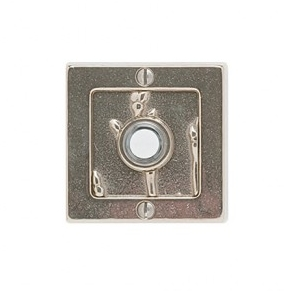 Rocky Mountain Square Designer Texture Door Bell White Bronze Light with Branch