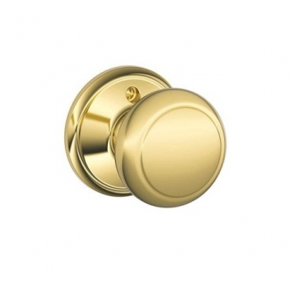 Schlage F170 And Dummy Knob 605 Polished Brass