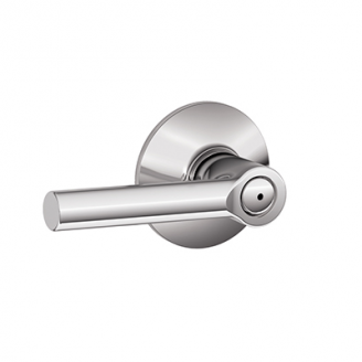 Schlage F40-BRW Broadway Privacy Door Lever Set Polished chrome