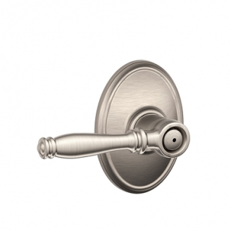 Schlage F40BIR619WKF Birmingham Privacy Door Lever Set with Wakefield Rose