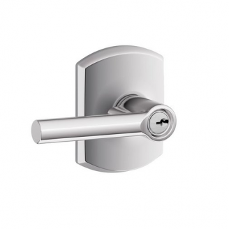 Schlage F51ABRW625GRW Broadway Keyed Entry Door Lever Set with Greenwich Rose