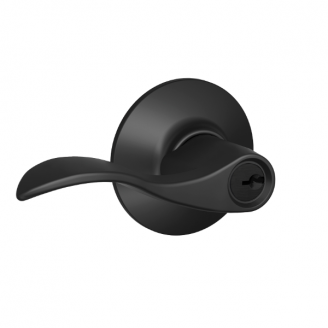 Schlage Accent F51A-Acc-622 Keyed Entry 622 Matte Black