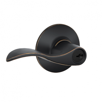 Schlage Accent F51A-Acc-716 Keyed Entry 716 Aged Bronze