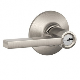 Schlage Latitude F51 Lat Keyed Entry 619 Satin Nickel