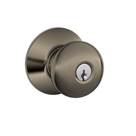 Schlage F51 Ply Keyed Entry Antique Pewter 620