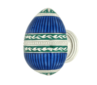 Emenee FAB1000-RS Faberge Easter Egg Cabinet Knob in Royal Silver (RS)