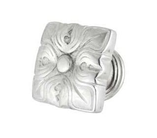 Emenee FAB1004-RS Imperial Pelican Egg Stand Cabinet Knob in Royal Silver (RS)