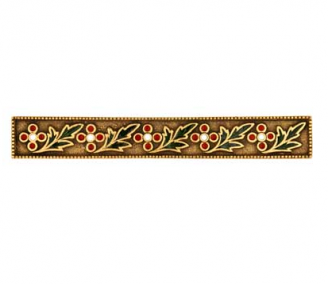 Emenee FAB1006-RG Faberge Round Parasol Cabinet Pull in Russian Gold (RG)