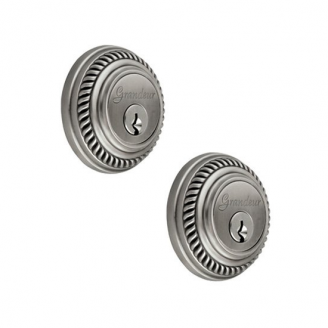 Grandeur Newport Double Cylinder Deadbolt Antique Pewter (AP)