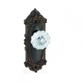 Grandeur Grande Victorian Backplate with Fountainebleau knob TB Timeless Bronze