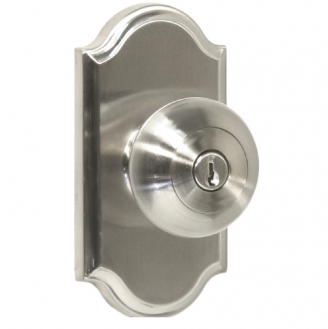 Weslock 1740I Keyed entry with Premiere Rose Satin Nickel