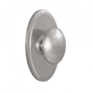 Weslock 2710J Privacy with Oval Rose Satin Nickel