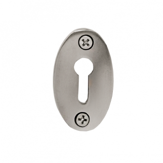 Nostalgic Warehouse KHLCLA Plain Keyhole Cover Satin Nickel (SN)