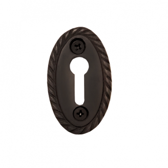 Nostalgic Warehouse KHLROP Rope Keyhole Cover Oil Rubbed Bronze (OB)