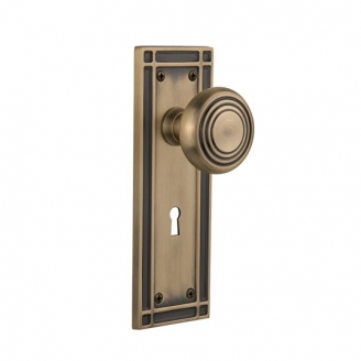 Nostalgic Warehouse Mission Backplate Privacy Mortise with Deco knob