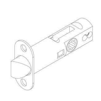Grandeur Handleset Latch With 2 3/4 inch backset