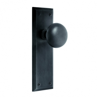 Nostalgic Warehouse New York Backplate with New York Knob Oil Rubbed Bronze (OB)