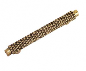 Emenee OR191 Rope on Bar Cabinet Pull shown in Antique Matte Gold (AMG)