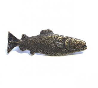 Emenee OR367 Trout Cabinet Pull in Antique Matte Brass (ABR)