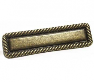 Emenee OR389 Rope Edge Cabinet Pull shown in Antique Matte Brass (ABR)