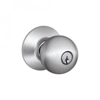Schlage Commercial A Series A53PD Keyed Entry Knob in Satin Chrome (626)